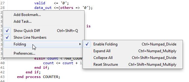 Configure Code Folding