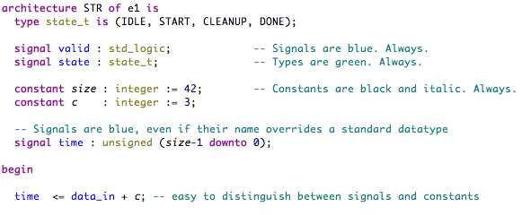 Sigasi's Semantic Highlighting
