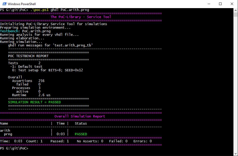 GHDL simulation