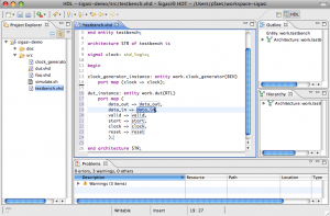 Sigasi's VHDL plugin for Eclipse