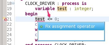 Fix assignment operator quick fix