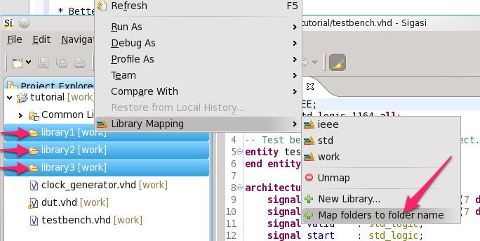 Map folders to folder name