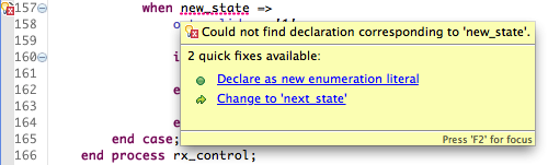Add new enumeration literal quickfix