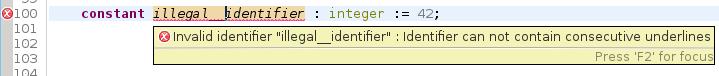 Illegal identifier
