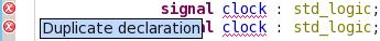 Detect duplicate declarations
