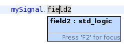 Hover datatype record fields