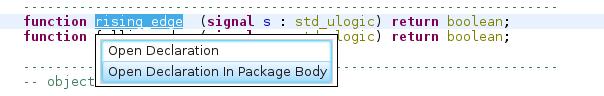 Crosslink package and package body