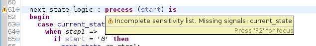 Sensitivity list validation