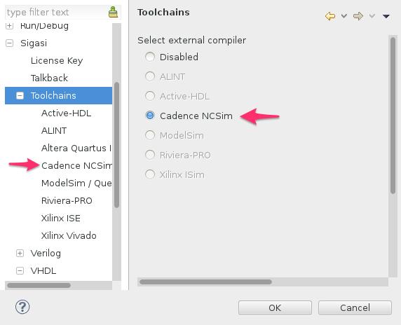 Cadence Incisive (NCSim) Toolchain Integration