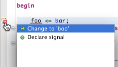 Quickfix: Declare VHDL Signal