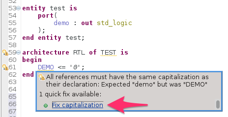 Quickfix capitalization of identifiers
