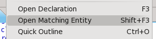 Open matching entity (context menu)