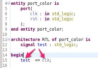 Different semantic coloring for ports and signals