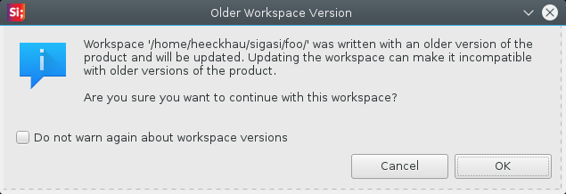 Older Workspace Version Info
