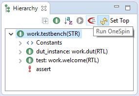 Run OneSpin Consistency Checks