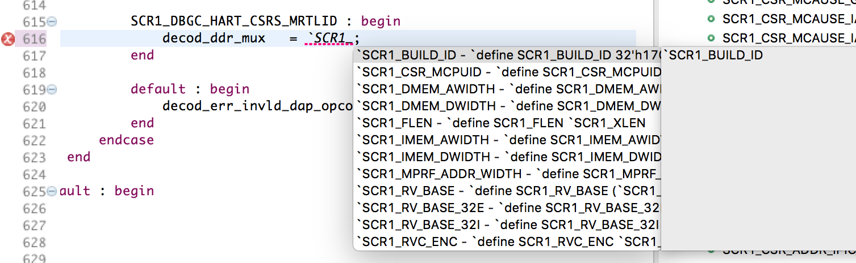 Use autocomplete to complete Preprocessor defines
