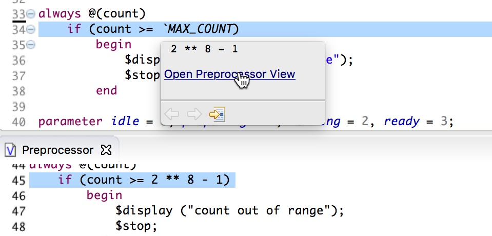 Preview preprocessed code in hover and Preprocessor View
