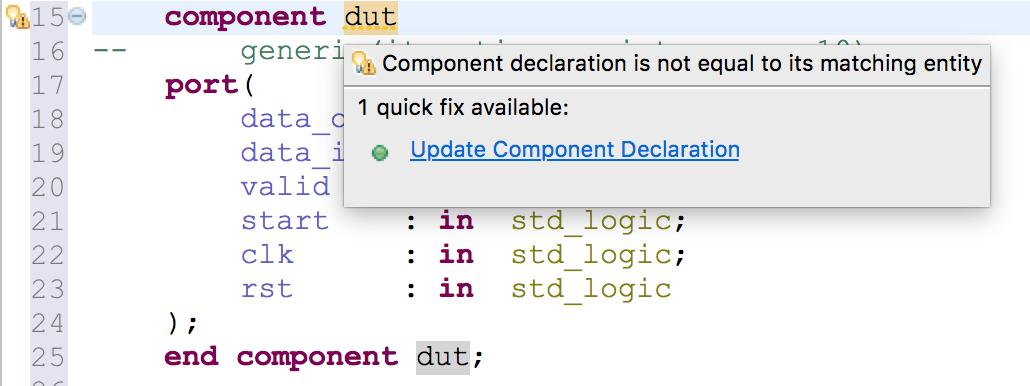 Check component/entity mismatch