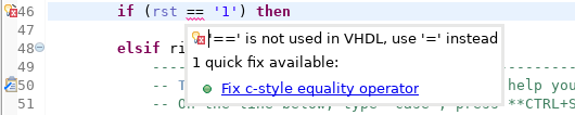 C-style equals quick fix