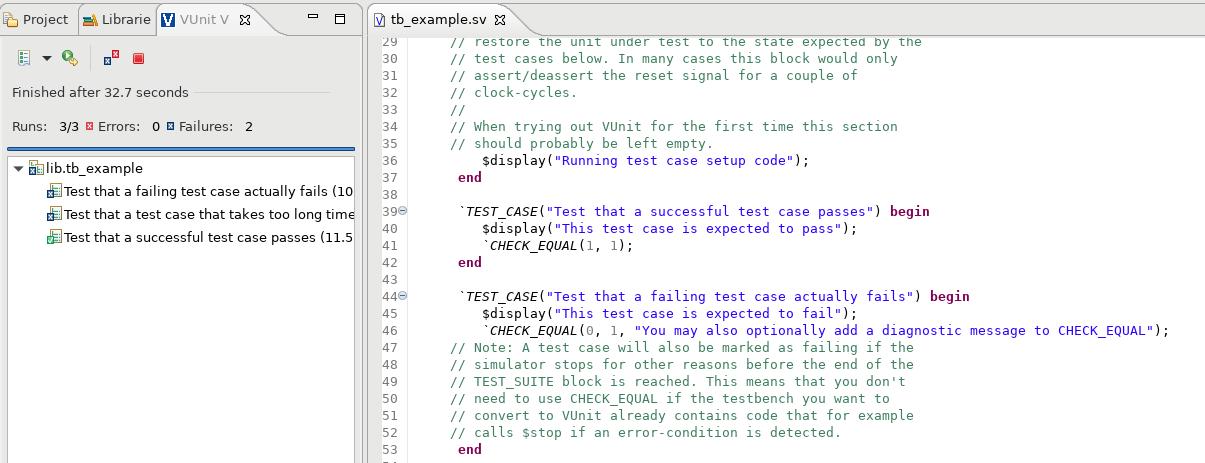 VUnit SystemVerilog Example