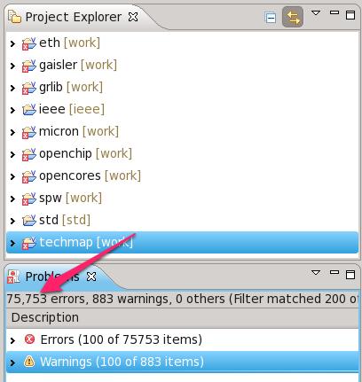 Auch, 75753 errors in GRlib