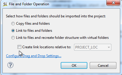 Drag and drop library folder