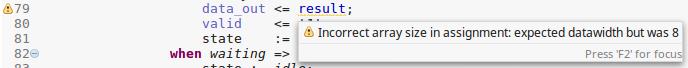 Incorrect array size warning