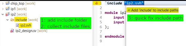 Organize include files in the sub-project