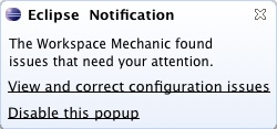 Workspace Mechanic popup