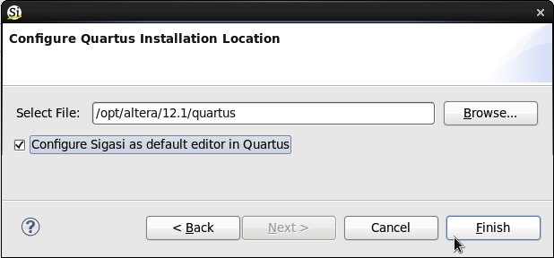 Quartus installation location
