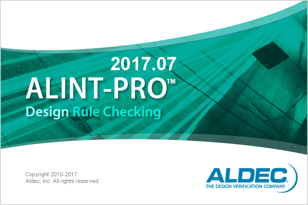 ALINT-PRO splash screen